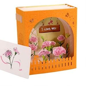 3D I Love Mom Pop-Up Greeting Card, Laser Cut 🌸